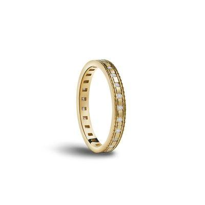 Fede nuziale in oro bianco con diamanti