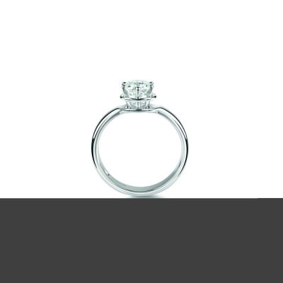 Anello di fidanzamento in Platinum 0,16 carati, colore G, purezza VS