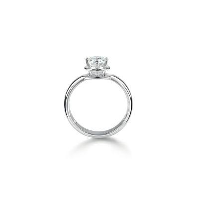 Anello di fidanzamento in Platinum 0,16 carati, colore H, purezza VS