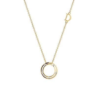 Collana in oro giallo con diamanti