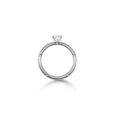 Anello di fidanzamento in oro bianco  0,16 carati, colore H, purezza VS