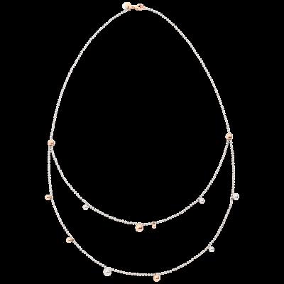 Collana Bavarole Argento e Oro Rosa