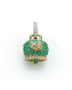 Ciondolo Campanella Smeraldi