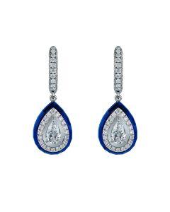 Orecchini con Diamanti e Spinello Blu