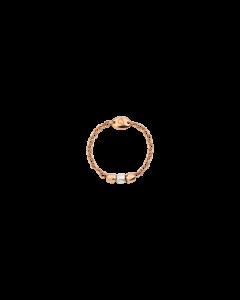 Anello Mini Granelli Oro Rosa