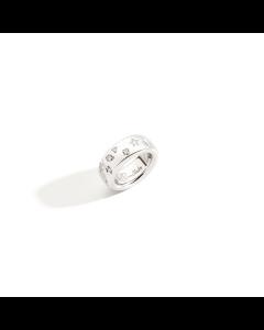 Anello Iconica Oro Bianco e Diamanti