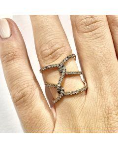 Anello Nodo Oro Rosa e Diamanti