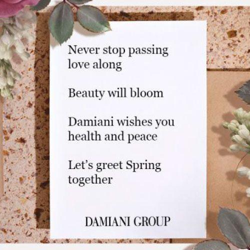 DAMIANI - II sostegno di Damiani ai Paesi colpiti dal coronavirus